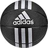 adidas 3 Stripes Mini Basketball (Black/Metallic Silver, 3)
