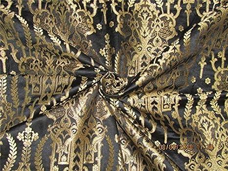 Heavy brocade fabric silver black brocade brocade Brocade Fabrics silver black Baroque fabric rococo fabric corsay fabric KT2812