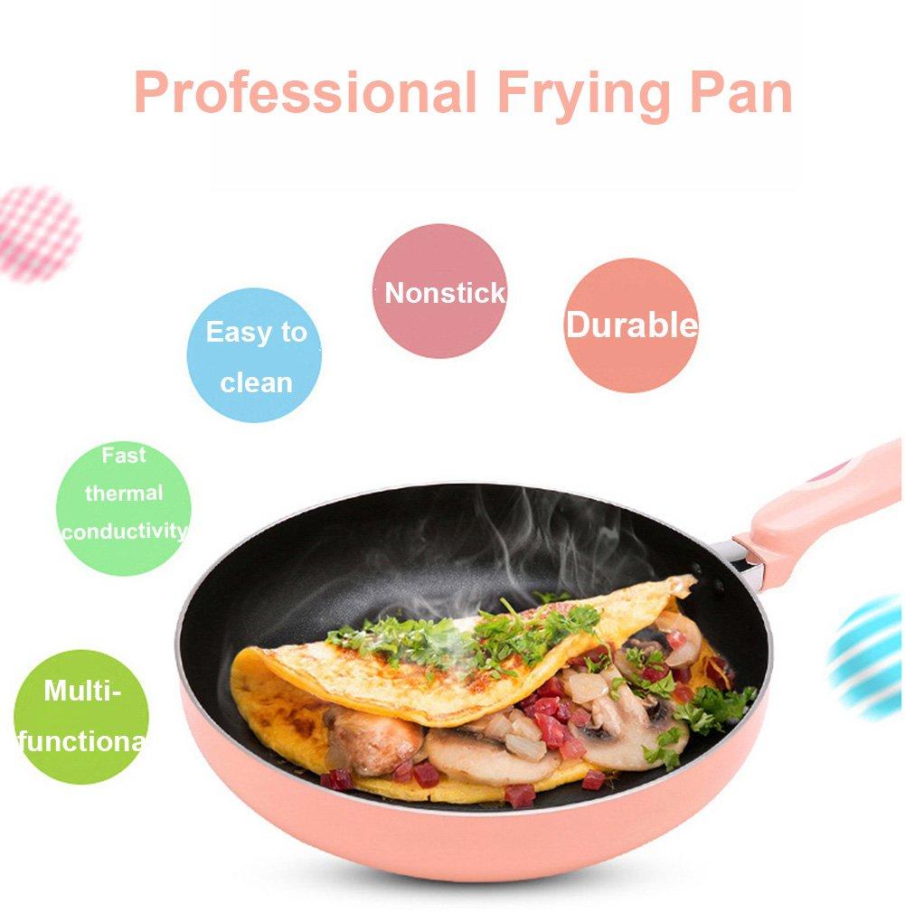 Amazon.com: LE stick pan/with/Glass Lid, Cast aluminum/frying pan ...