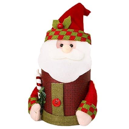 toogoor 1 wine red cardboard creative christmas decoration santa claus fancy gift box - Cardboard Box Christmas Decorations