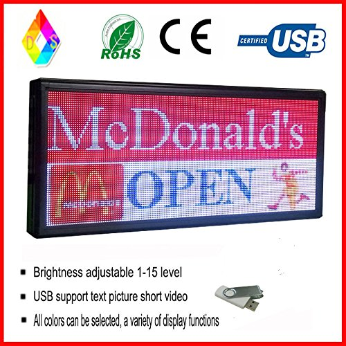 '' Programming Texts, Images& Video Outdoor Full Color led Sign for Window Advertising ()
