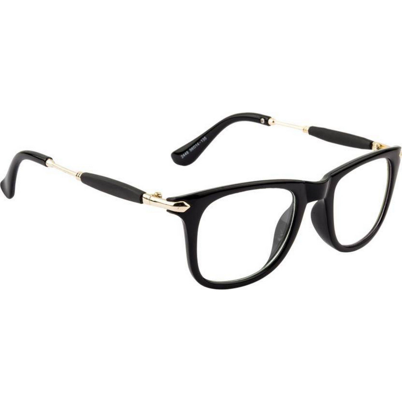 efbc4c2072 Dervin Clear Lens Black Frame Wayfarer Sunglasses for Men and Women   Amazon.in  Clothing   Accessories