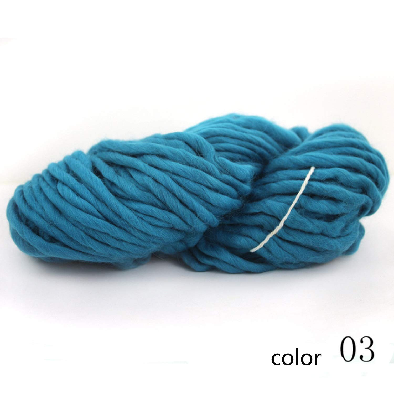 Col 03 5 boxes Fenghezhanouzhou Yarn knitting yarn soft woven wool yarn hat line scarf line 1 box about 220 g 1 0.2 NM (color   Col 08, UnitCount   5 boxes)