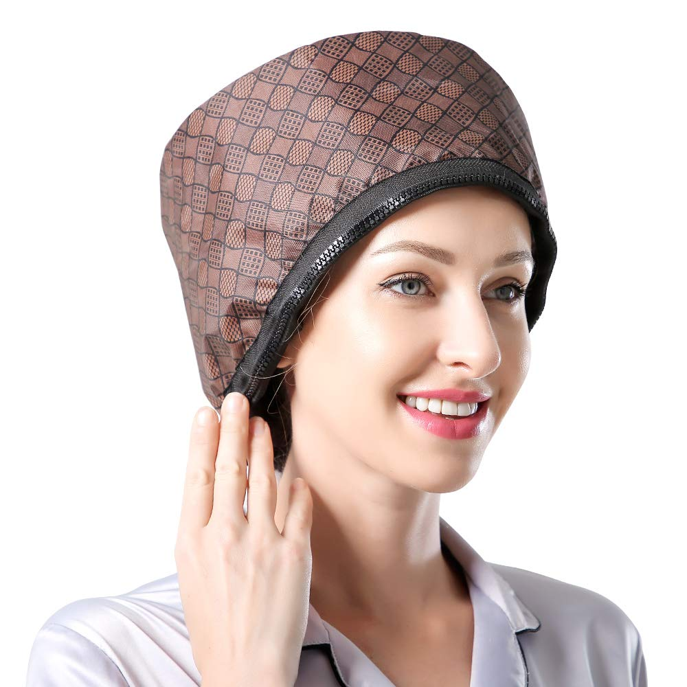 CHILIKI 110V Hair Care Hat,Hair SPA Cap, Hair Steamer Thermal Heat Cap,Nourishing Care Hat,Deep Conditioning Hair Treatment Head Care Home Use Free size