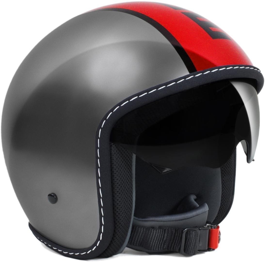 Momo 10110010022Helmet Moto, Blade Glos Metal Red, XS