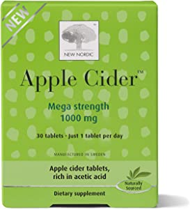 New Nordic Apple Cider Tablets 30 Count Naturally Sourced Apple Cider Vinegar Pills