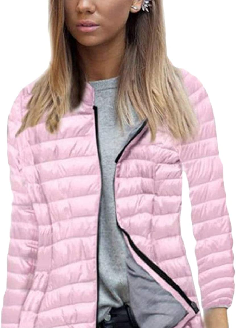 HTOOHTOOH Womens Slim Fit Long Sleeve Lightweight Fashion Quilted Jacket