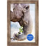RPJC Solid Wood11x17 inch Wide-Frame Poster Frames for Wall Mounting Hanging Picture Frame Carbonized