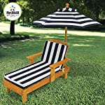 Elegant Popular Kids Toddlers Dark Blue/White Backyard Patio Deck Chaise Lounge Chair With Matching Umbrella- Beautiful Stylish Lightweight- Weatherproof Finish Portable Durable Sturdy- Summer Fun