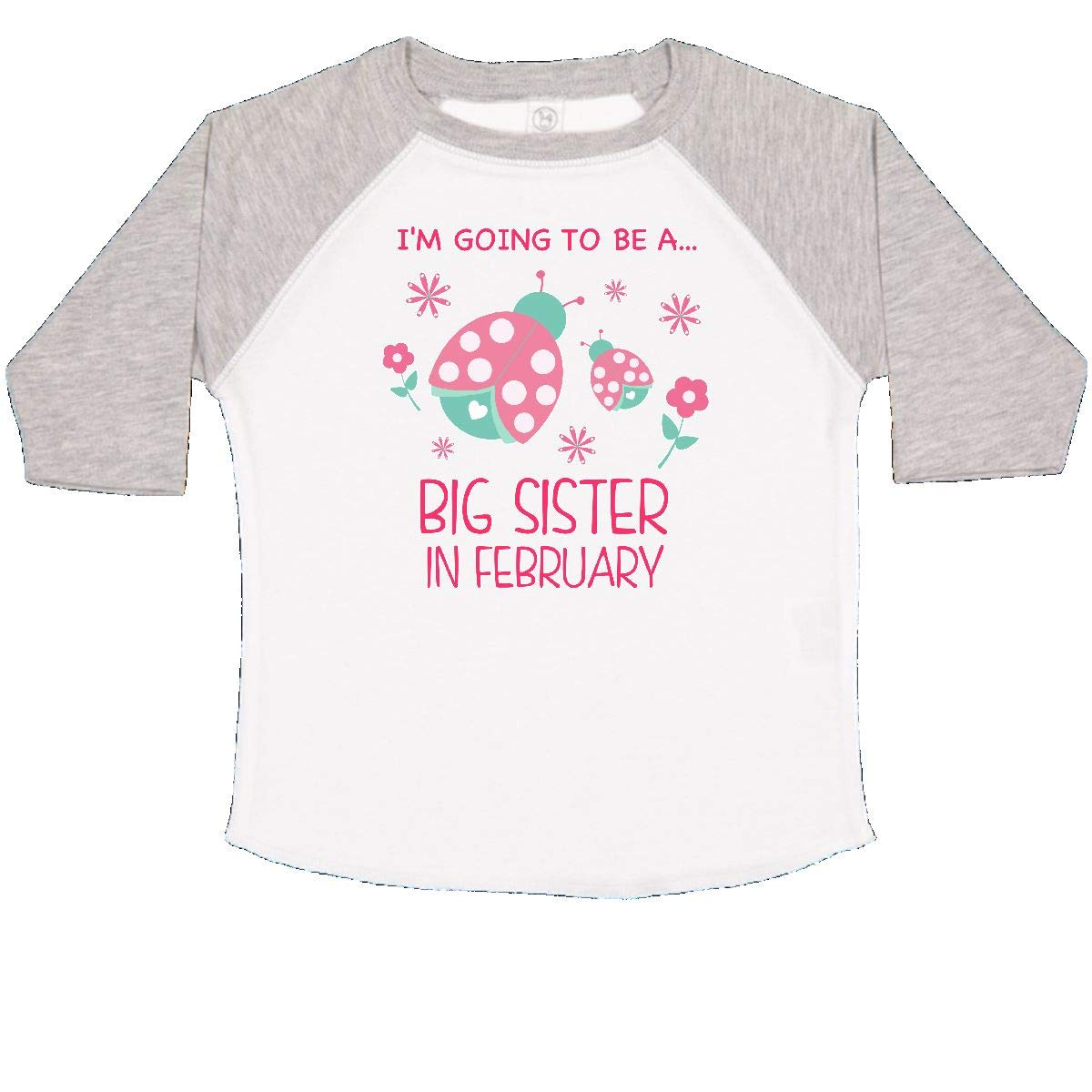 inktastic Im Gonna Be a Sister in February with Ladybugs Toddler T-Shirt