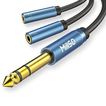 2x Klinken Stecker 3,5 mm Adapter vergoldet Kupplung 6,3 mm Kopfhörer