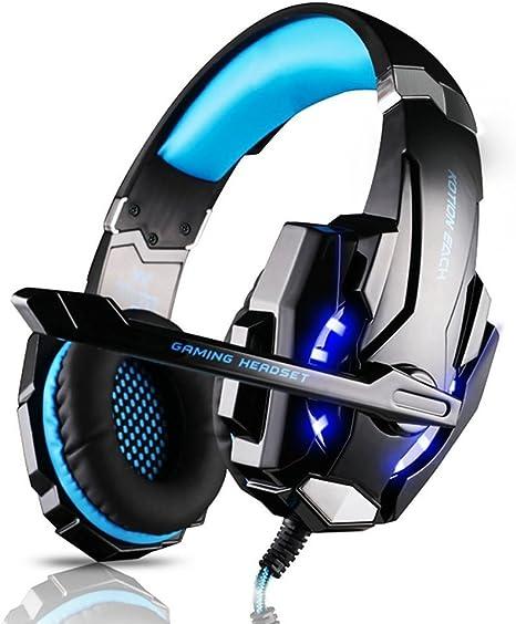 Elepawl Auriculares Cascos Gaming para PS4/PC/Xbox One, Cascos ...