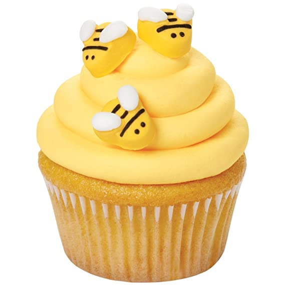 Amazon Com Wilton W7102916 Icing Decorations Bumblebee 18 Pack