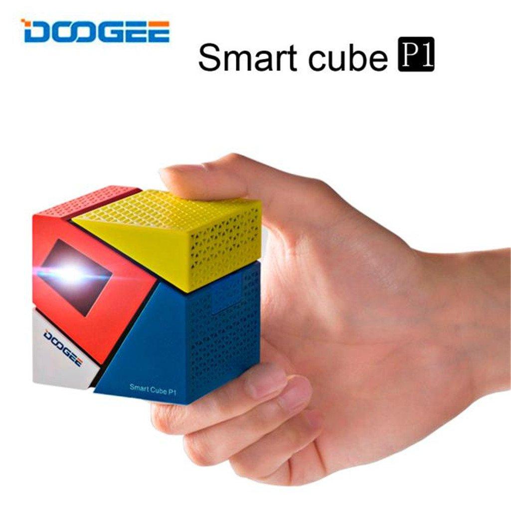Lary Intel Doogee cubo P1 Smart Mini LED proyector Amlogic Quad ...