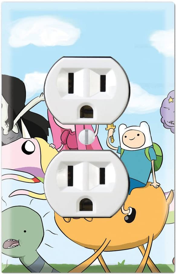 Duplex Wall Outlet Plate Decor Wallplate - Adventure Time Jake Finn Fionna Marceline Ice King