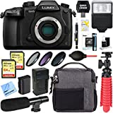 Panasonic LUMIX GH5 20.3MP 4K Mirrorless Digital Camera Body + 64GB Dual Memory & Microphone Deluxe Bundle