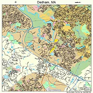Amazon Com Large Street Amp Road Map Of Dedham