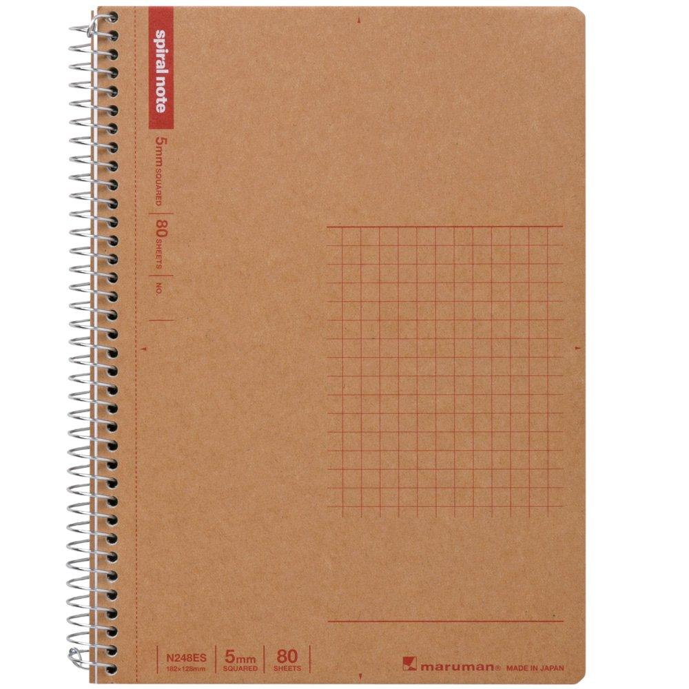 Maruman B6 spiral notebook grid ruled 80 sheets N248ES 5-volume set