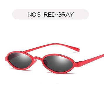 DXXHMJY Gafas de Sol Pequeñas Gafas de Sol ovaladas Hombres ...
