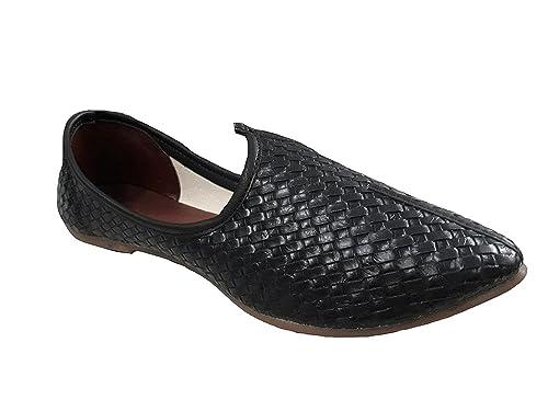 Port Men's Leather Punjabi Jutti(Size 9