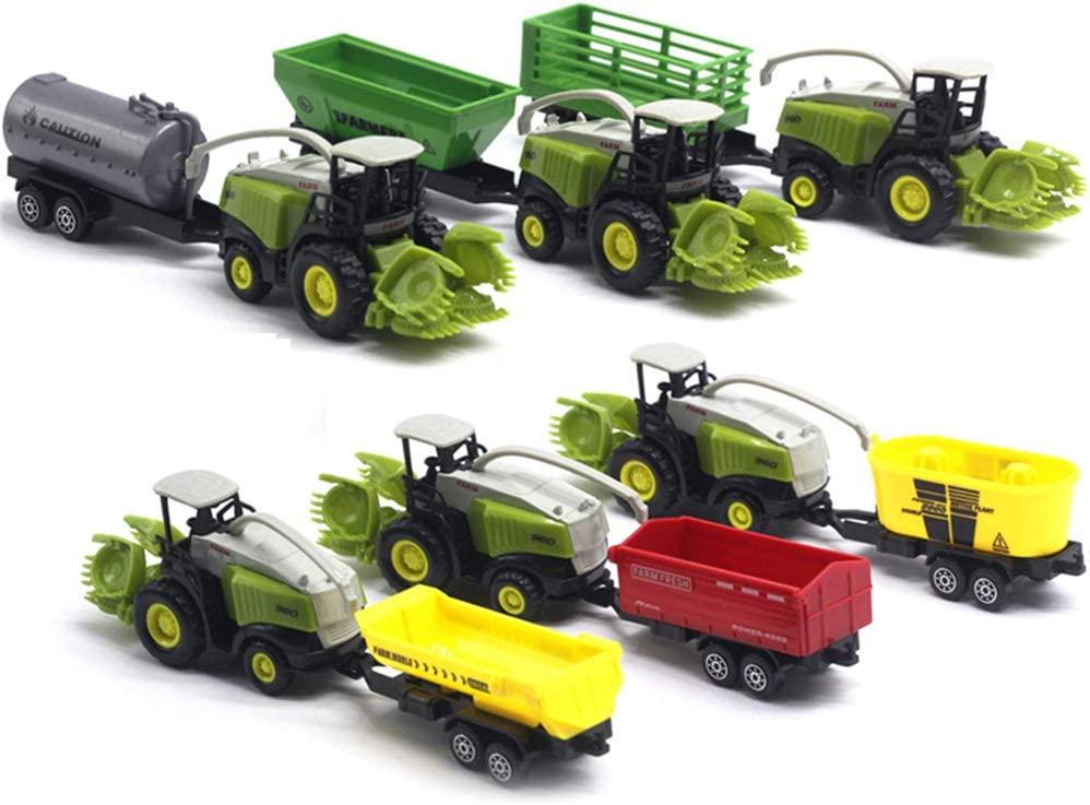 Anniston Kids Toys Dumper Trailer 1//55 Diecast Farm Truck Tractor Friction Car Model Kids Educational Toy Gift Models Toys Perfect Fun Time Play Activity Gift for Boys Girls