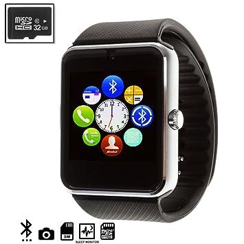 Silica DMQ237BKSILVERSD32 - Gt08 Bluetooth Watch con Micro ...