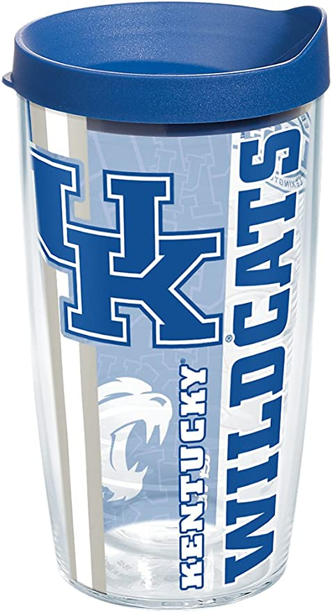 Tervis 1229568 Miami University RedHawks College Pride Tumbler with Wrap and Red Lid 16oz Clear