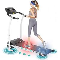 Homgrace Elektrisches Laufband Klappbar Heimtrainer Fitnessgerät mit LCD-Display, 126 x 109 x 59 cm (B x H x T), 1-12 km/h, Benutzergewicht bis 120 kg