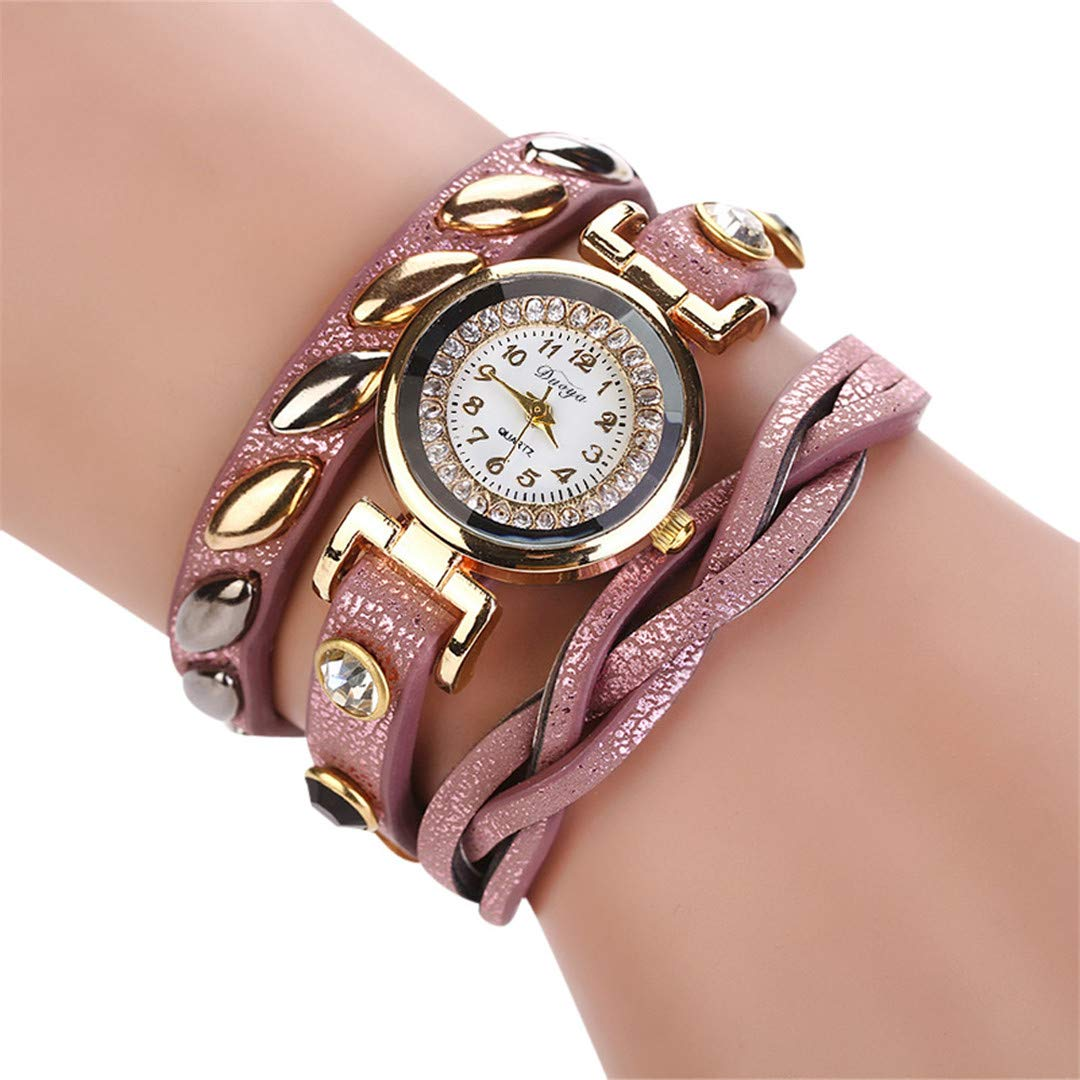 Amazon.com: Mujer NEW Fashion Femmes Mode Casual Bracelet En Cuir -Bracelet Femmes Robe Women Watches Khaki: Beauty