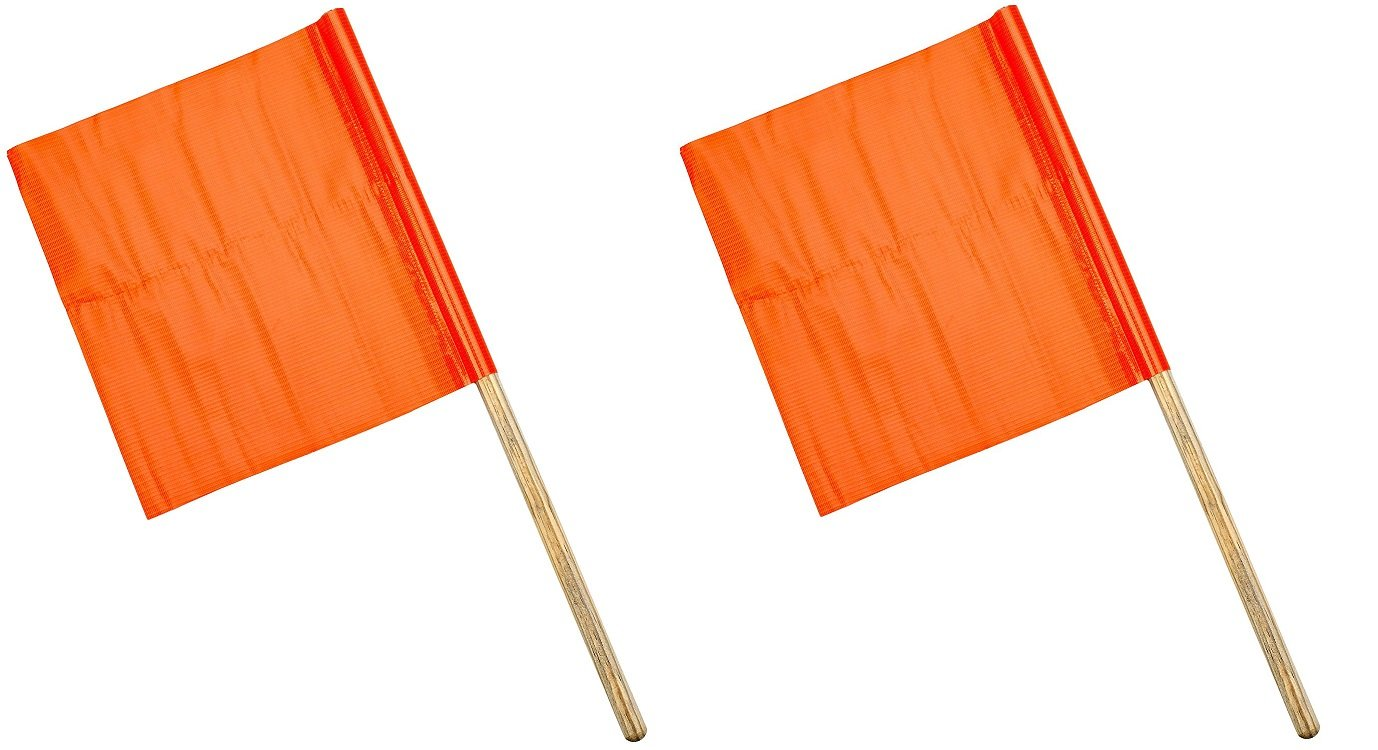 Mutual Industries 14994-0-12 Standard Vinyl Highway Safety Traffic Warning Flag, 12'' x 12'' x 24'' (2 X Pack of 10)