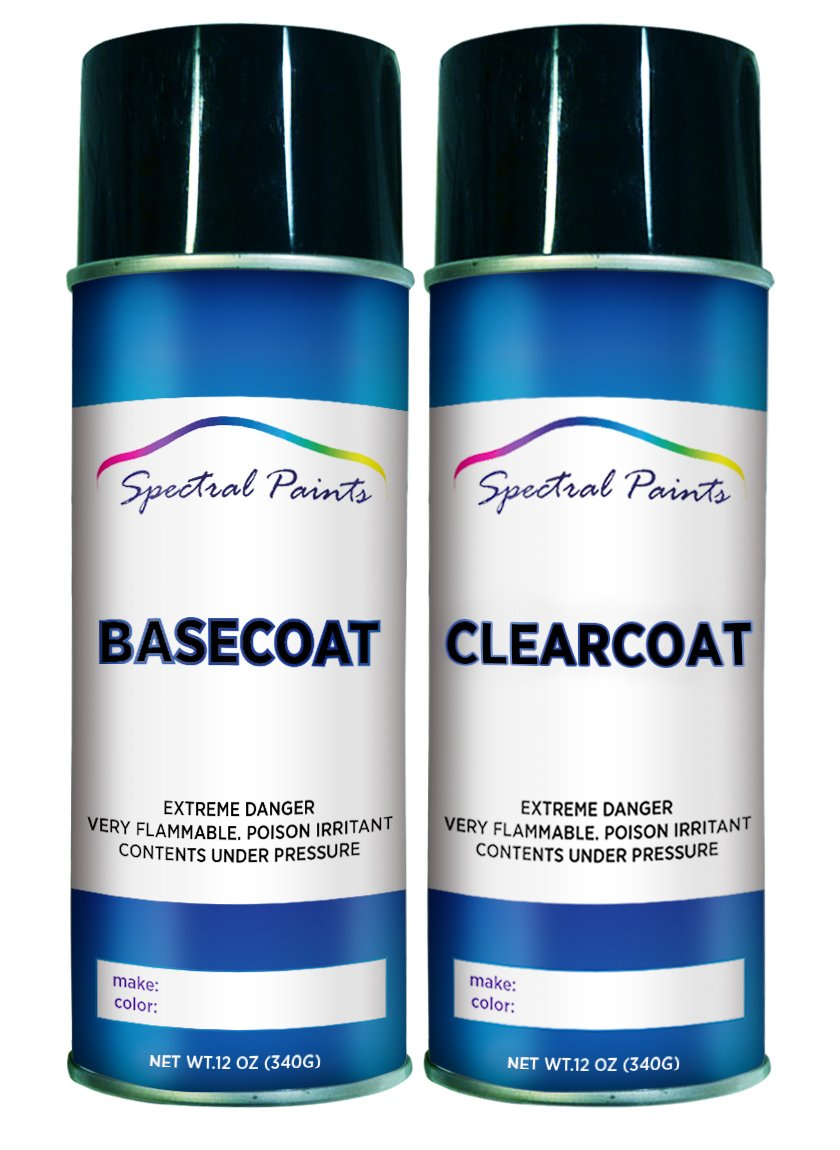 Spectral Paints Compatible/Replacement for Honda NH678M Silver Pearl Metallic 12 oz. Aerosol Spray Paint and Clear Coat