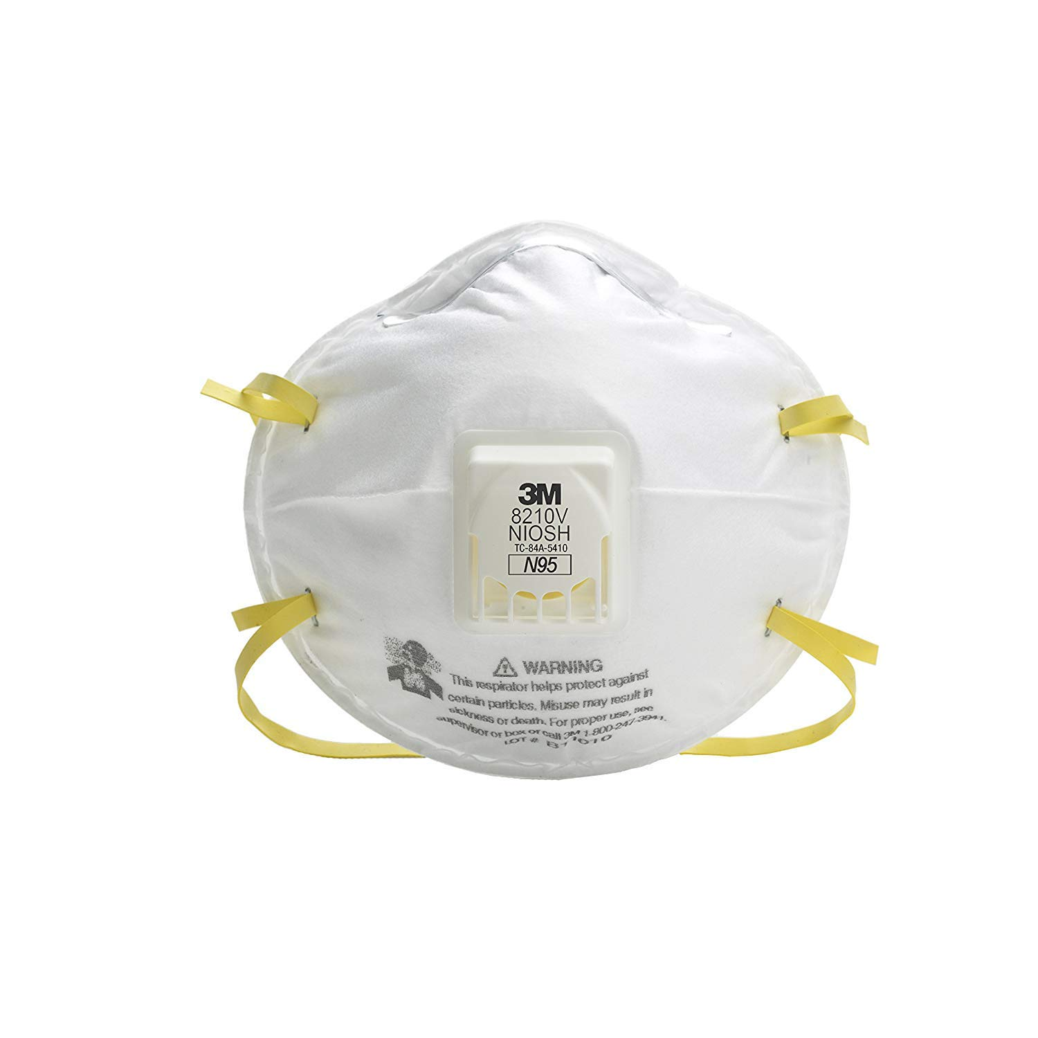 3M (TM) Particulate Respirator 8210V, N95 Respiratory Protection 30/Box