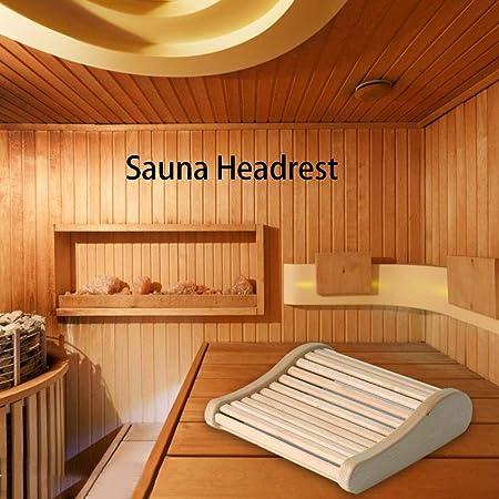 Oreiller En Bois De Sauna,Appui-t/ête Sauna Arc Sommeil En Bois Am/éliorant Lappui-t/ête Pour Salle De Bain