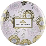 Voluspa 3-wick Candle In Decorative Tin, Panjore Lychee, 340 Gram