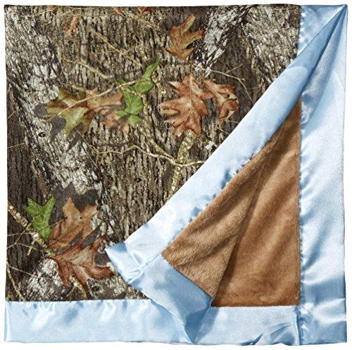 Carstens Mossy Oak Break Up Baby Blanket (Blue Camo Baby Bedding)