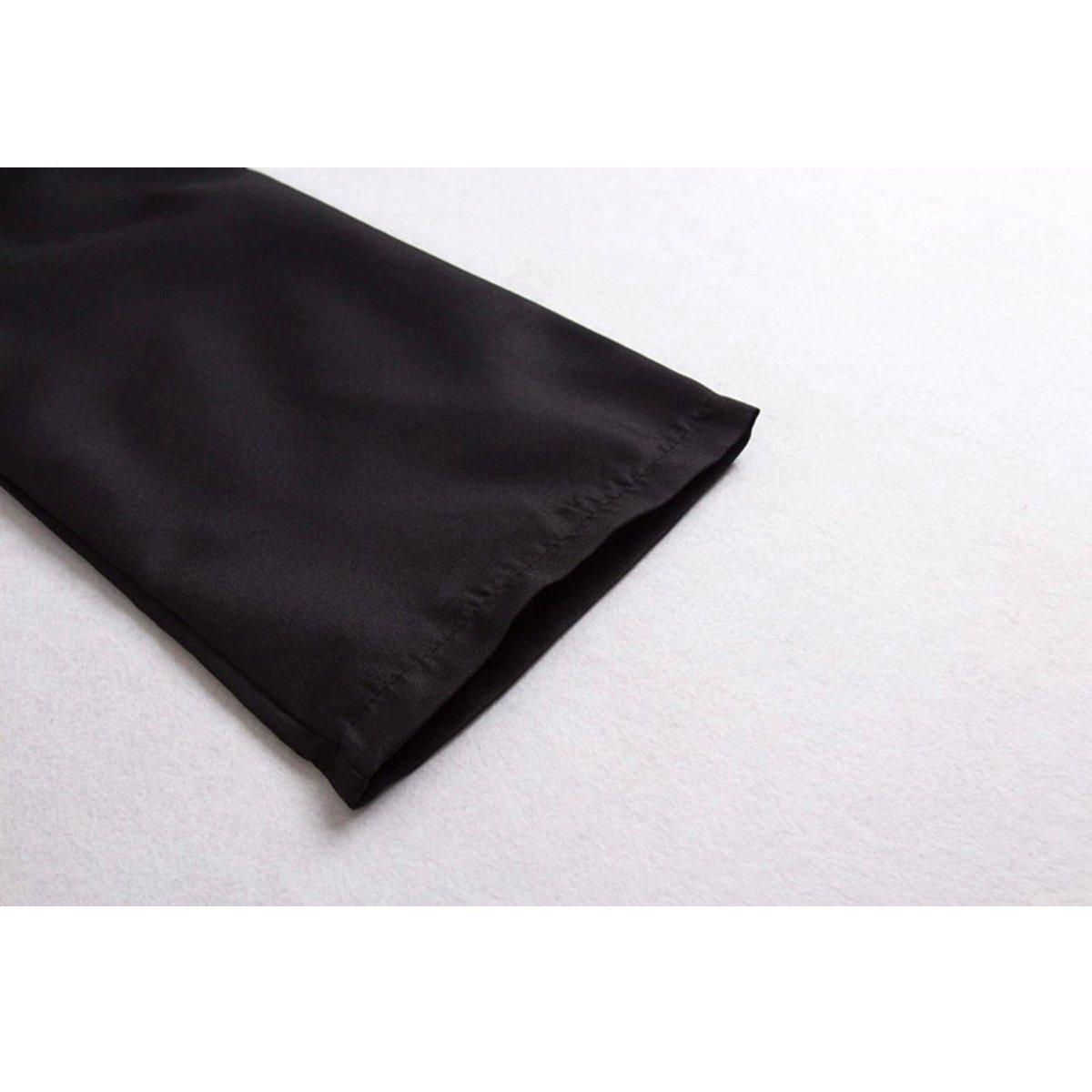 Angelaicos Unisex Black Hoodie Robe Halloween Party Costume Cloak with Headband