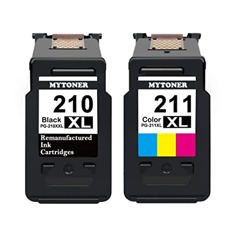 MyToner 210XL 211XL Remanufactured Canon PG 210 XL CL 211 Ink Cartridge Combo