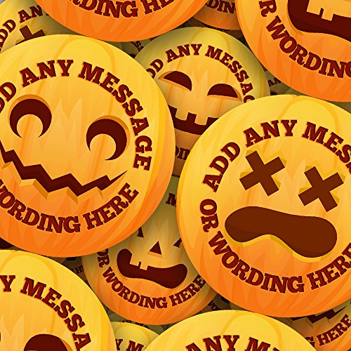 Halloween Smile Emoji Sticker Labels (12 Stickers @
