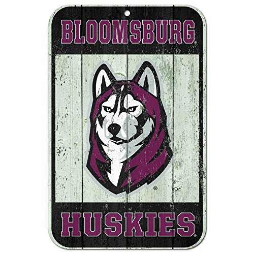 """Bloomsburg Huskies Official NCAA 11"""" x 17"""" Fence Plastic Wall Sign 11x17 by Wincraft 603388 from WinCraft"""