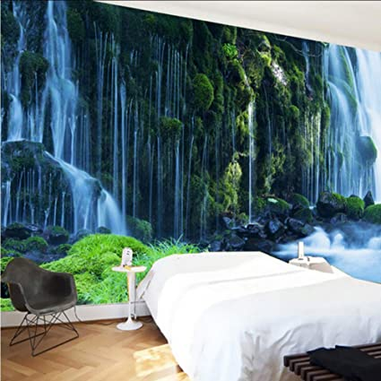 Amazon Com Xbwy Custom 3d Wallpaper Classic Waterfall Nature