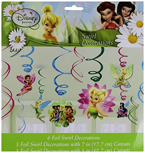 (Tinker Bell & Fairies Swirl Decorations 12ct [Toy])