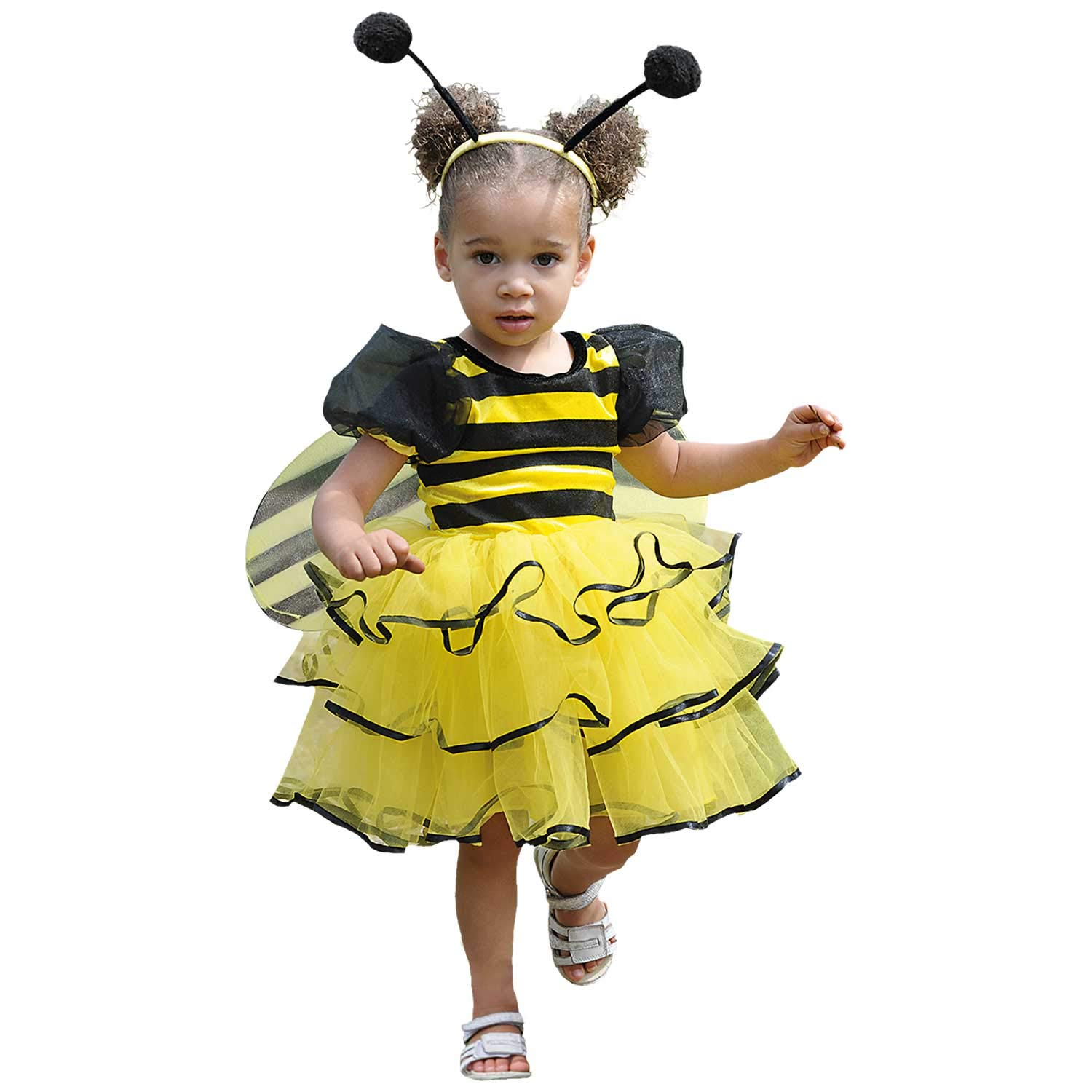 Girls Bumblebee Bumble Bee Kids Insect Bug Party Child Fancy Dress Costume