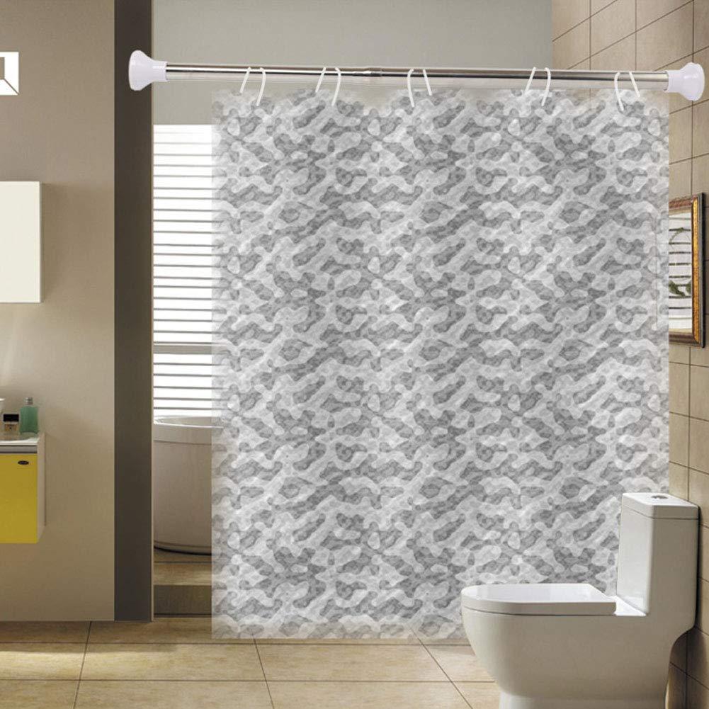 Varillas extensibles para cortina de ducha ajustables telesc/ópicas barra de tensi/ón sin taladro barra para colgar en el armario de ba/ño barra de acero inoxidable extensibles 50 /– 80 cm