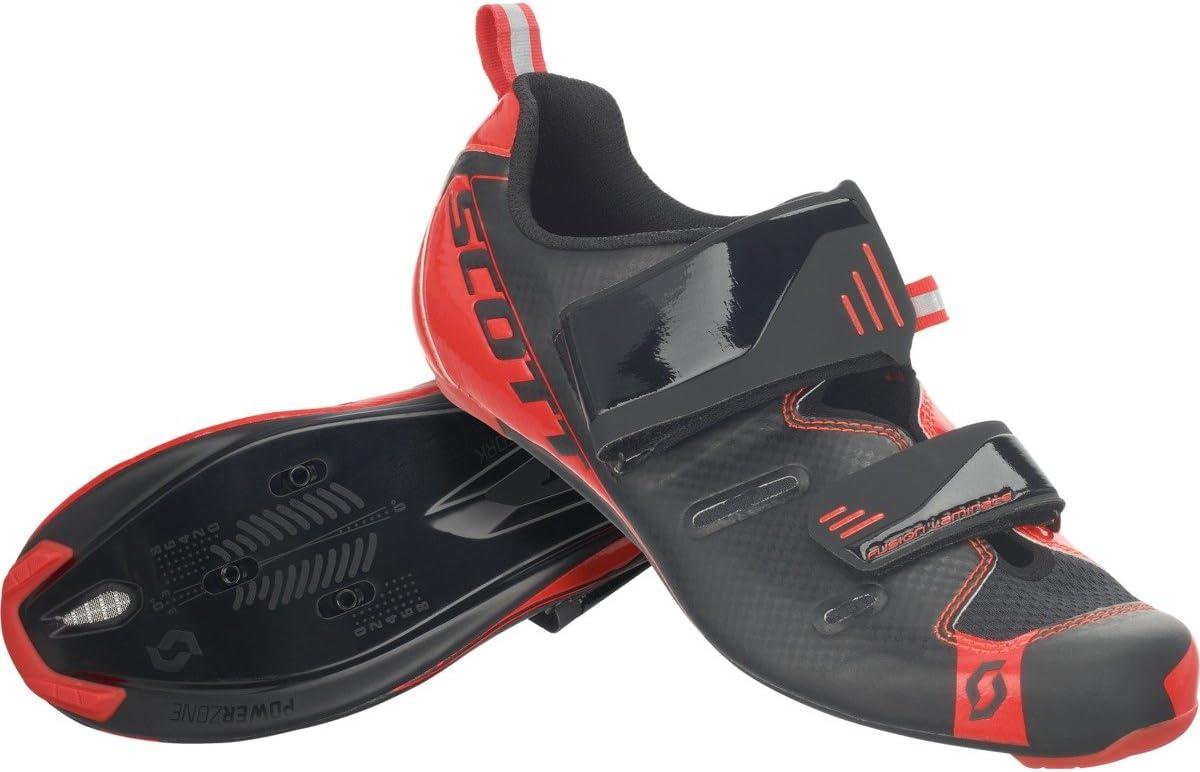 Scott Tri Pro Triathlon Bicicleta Guantes Negro/Rojo 2018, Hombre, Black/Neon Red Gloss, 38: Amazon.es: Deportes y aire libre