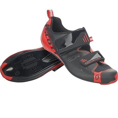 Scott Tri Pro Triathlon bicicleta guantes negro/rojo 2018, hombre, black/neon