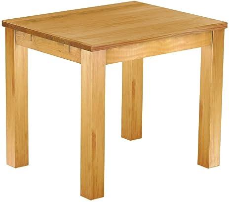 Massivholz Tisch 130x80 - Farbton Brasil - Pinien Echtholz- und ...