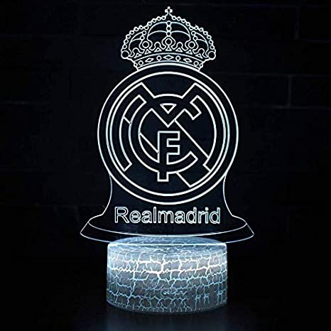 Despertador Football Club Real Madrid 3D / LED Nightlight 7 ...