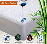 OYO BABY Waterproof Mattress Protector / Breathable Bed Protector / Hypoallergenic / 100% Cotton Terry Fitted {White} 72'X78'X (Skirting 12')