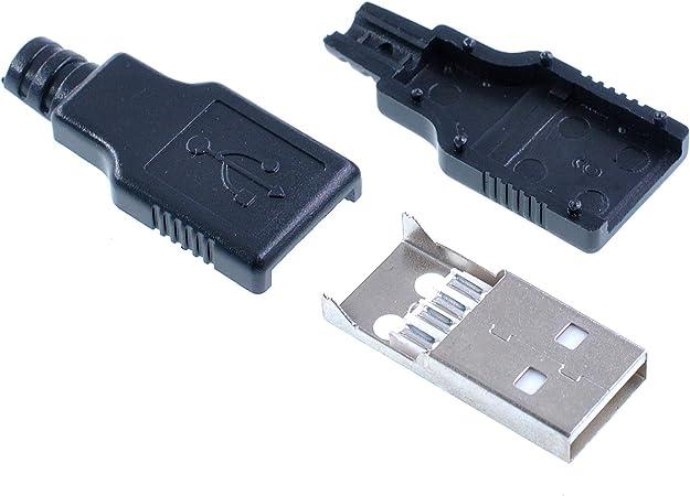 Oiyagai 20 Stück Usb 2 0 Typ A Stecker Sockel 4 Pin Computer Zubehör