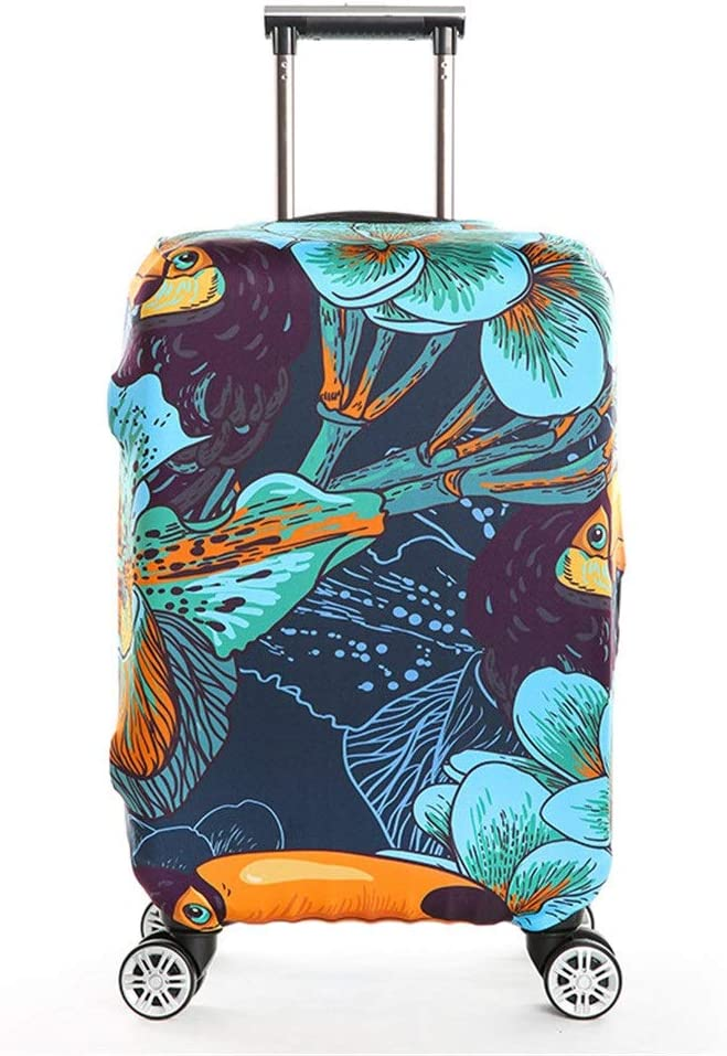 22-24 Yuybei-Bag Luggage Cover 3D Print Anti-Scratch Zipper Elastic Travel Luggage Cover Fit for 18-32 Inch Luggage Travel Luggage Sleeve Protector Color : Flower, Size : M